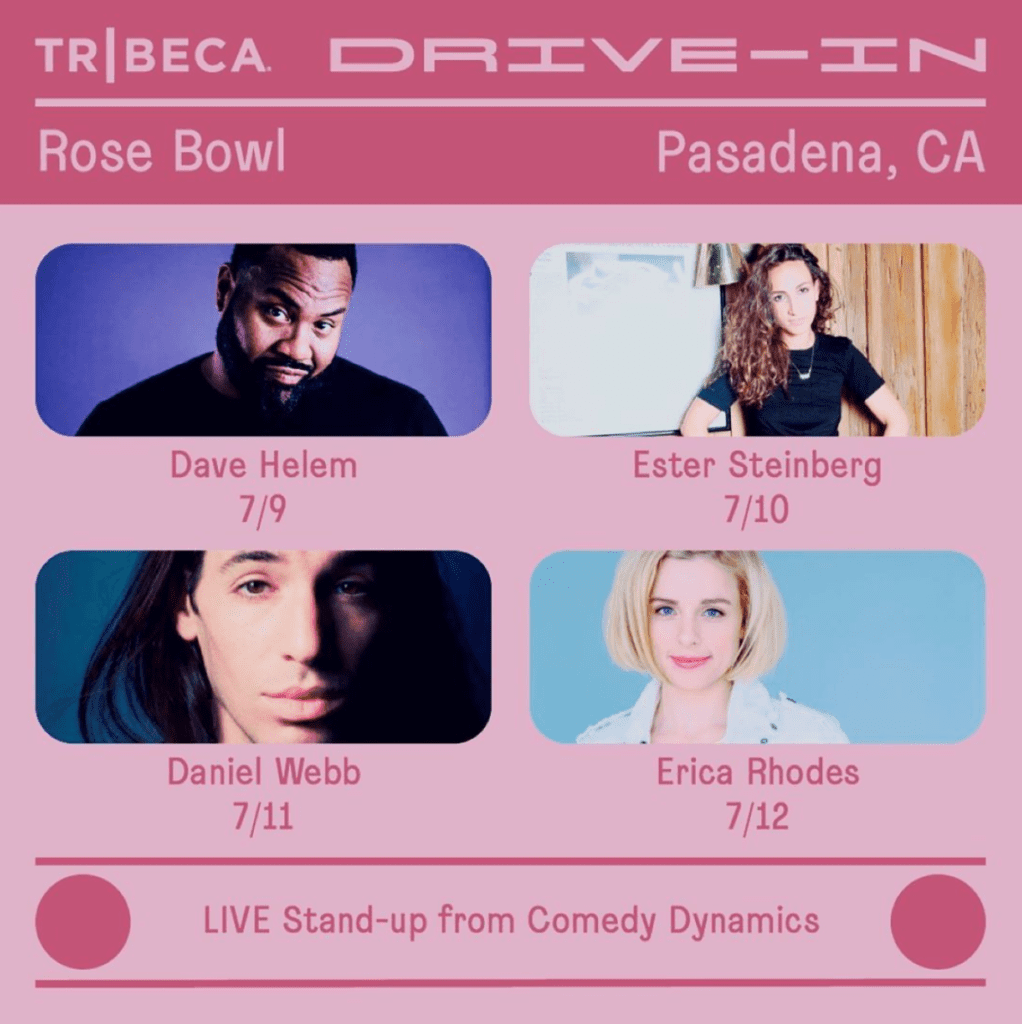 Pick Of The Day Live At Tribeca Drive In Rose Bowl The Comedy Bureau